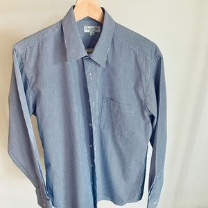 Christian Dior Navy and white striped dress shirt
